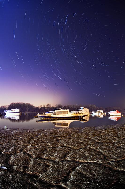 Marina at night by BorisMrdja