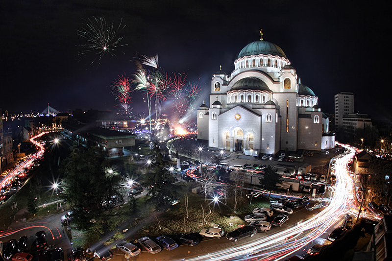 Orthodox Christmas 2012 in Belgrade by BorisMrdja