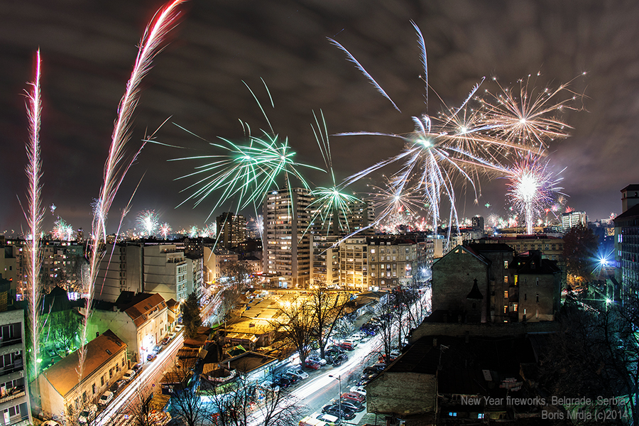 New Year Fireworks 2014 by BorisMrdja