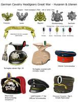 ww1 German Husaren and Ulanen headgear by AndreaSilva60