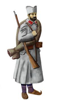 ww1 Serbian infantryman