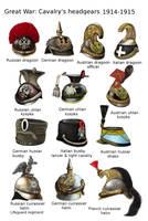 ww1 - Cavalry's headgears - 1914-1915 by AndreaSilva60