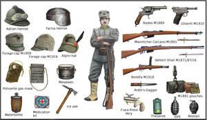 ww1  - Italian individual equipment