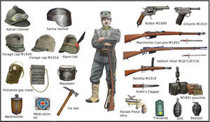 ww1  - Italian individual equipment by AndreaSilva60