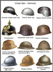 WW1 helmets