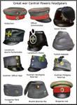 ww1 Central Powers headgears