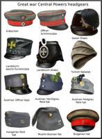 ww1 Central Powers headgears by AndreaSilva60