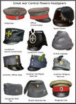 ww1 Central Powers headgears