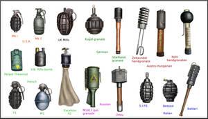 ww1 hand grenades by AndreaSilva60