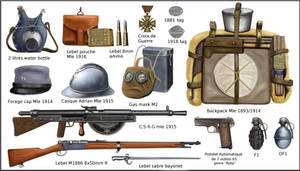 WW1 - French equipment by AndreaSilva60