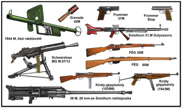 ww2  Hungarian small weapons