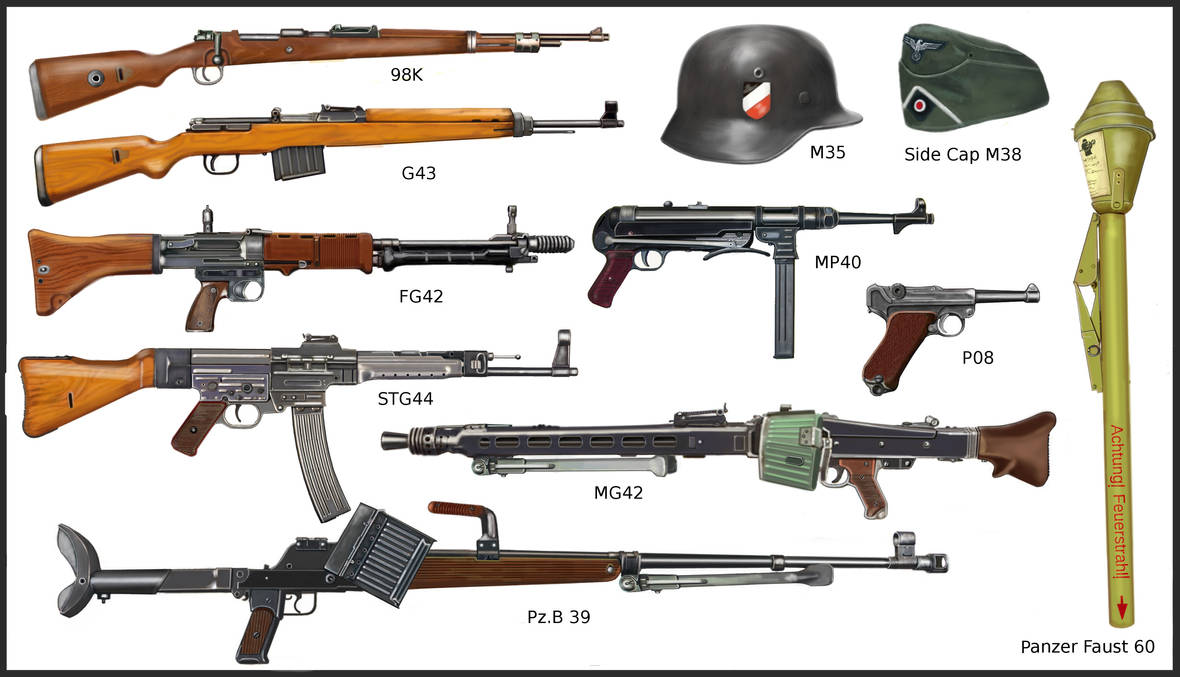WW2 - German infantry's weapons by AndreaSilva60 on DeviantArt
