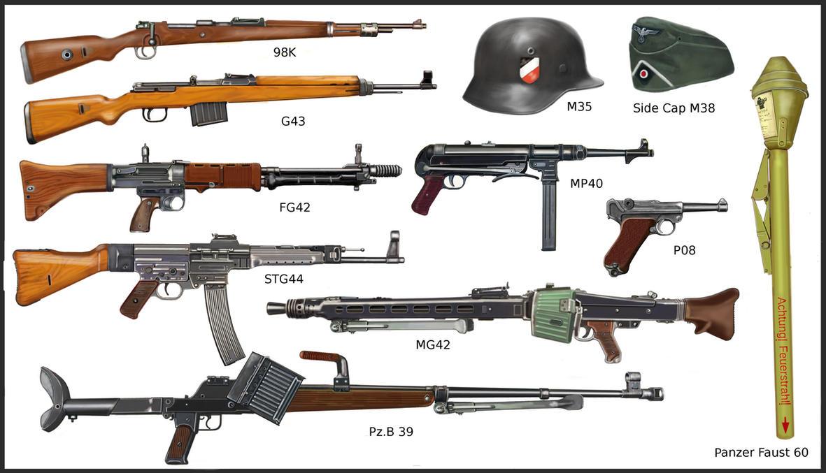 WW2 - German infantry's weapons by AndreaSilva60 on DeviantArt
