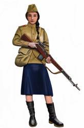 ww2 - 1943,  Red army Sniper