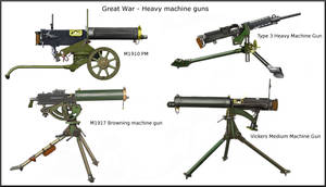 ww1 -  Heavy machine guns - Table II by AndreaSilva60