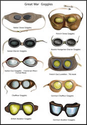 WWI  Goggles by AndreaSilva60