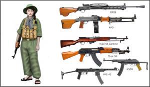 Vietnam War - Vietcong Fighter - Vietcong weapons by AndreaSilva60