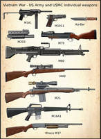 Vietnam War - US Army and USMC weapons