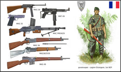 1st Indochina War:  French Weapons - 1er BEP para