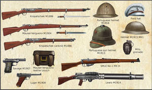 WW1 - Portuguese weapons and equipments by AndreaSilva60