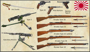 ww1 - Japanese Army and Navy weapons by AndreaSilva60