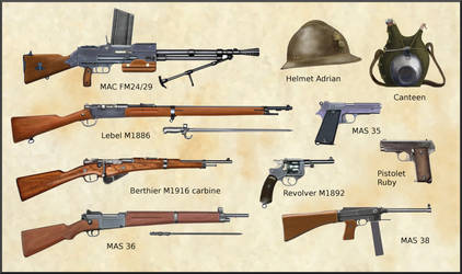 WW2 - French Army weapons and equipments by AndreaSilva60