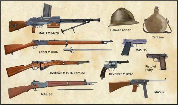 WW2 - French Army weapons and equipments