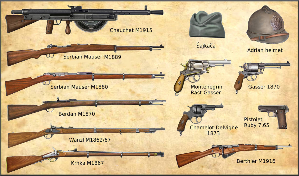 ww1 Serbian and Montenegro Armies weapons by AndreaSilva60 on DeviantArt