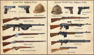 ww1 - ww2 Belgian Weapons
