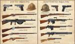 ww1 - ww2 Belgian Weapons by AndreaSilva60