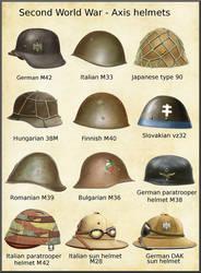 ww2 axis helmets