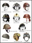 ww2  Tankers'  headgears