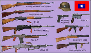 WW2 - Chinese National Revolutionary Army weapons