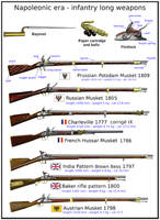 Napoleonic era - infantry's long weapons