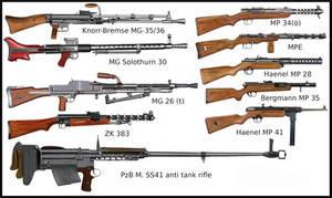 ww2 - Waffen Ss weapons - early stage of war