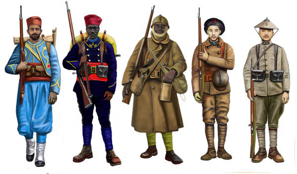 WWI - French Colonial Army: Tirailleurs