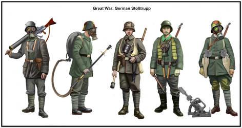 WWI - March 1918, Kaiserschlacht,   Sturmbataillon by AndreaSilva60