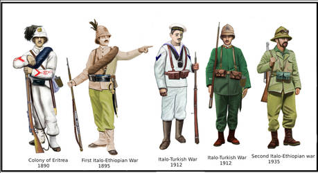 Italian Colonial Uniforms by AndreaSilva60