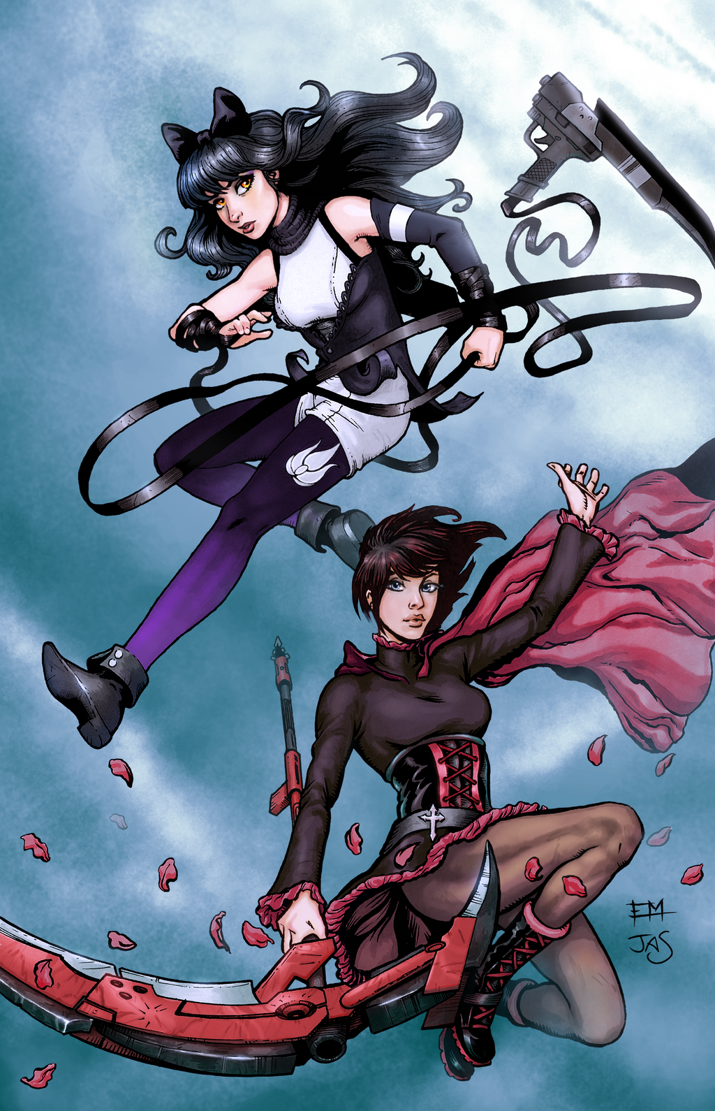 rwby blake and ruby by theroguespider on deviantart