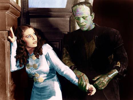 Bride of Frankenstein scene Colorized