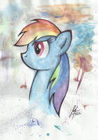 Rainbow Dash by MoonlightFL