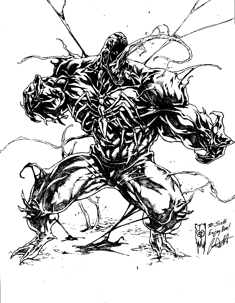 Coloring pages venom - Venom Coloring Pages By Profoundrounds