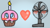 Fan X Cupcake Stamp by Pok3yGamrGirl