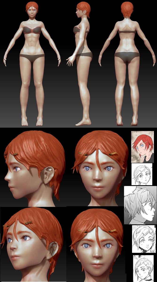 Rainfall RPG: Nadia Character model. by EduardoGaray