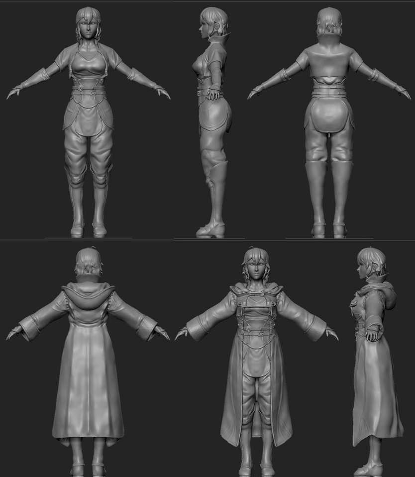 FE Awakening Female Morgan sculpt WIP v.2 by EduardoGaray