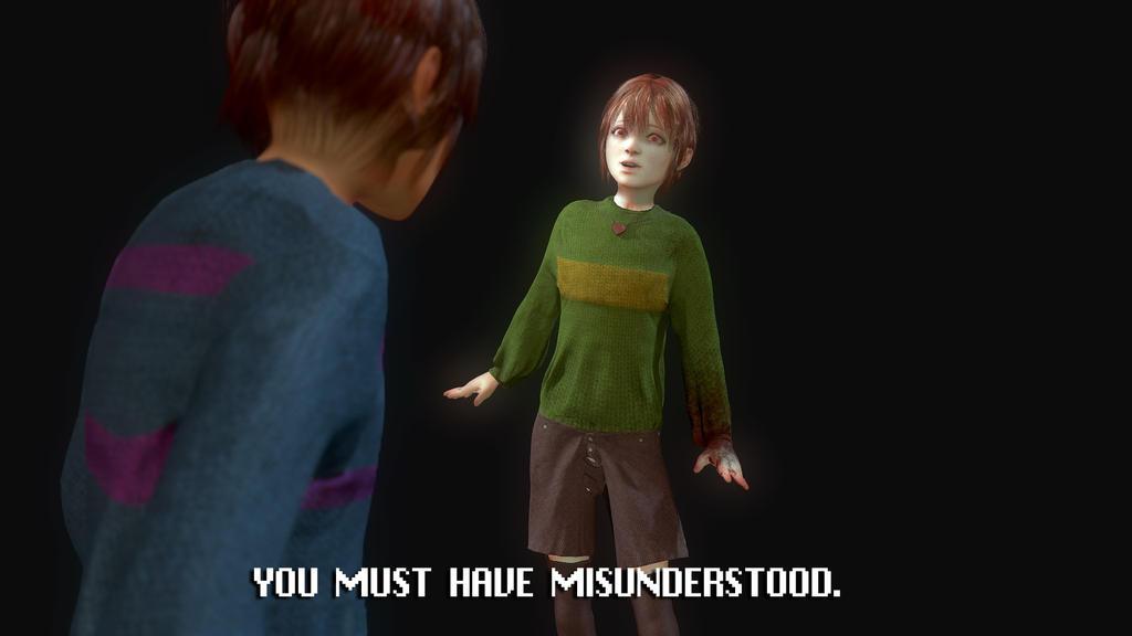 Undertale 3d fanart: You must have misunderstood. by EduardoGaray