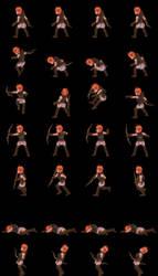 Female Protagonist (Sideview Battler) pre-render3D