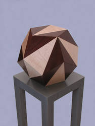 maple and walnut dodecahedron by sharp-chisel