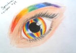 spectral rainbow eye by Astrikos