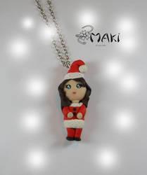 Christmas doll by Makicreazion